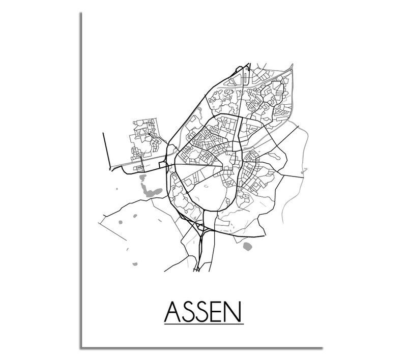 Assen Plattegrond poster