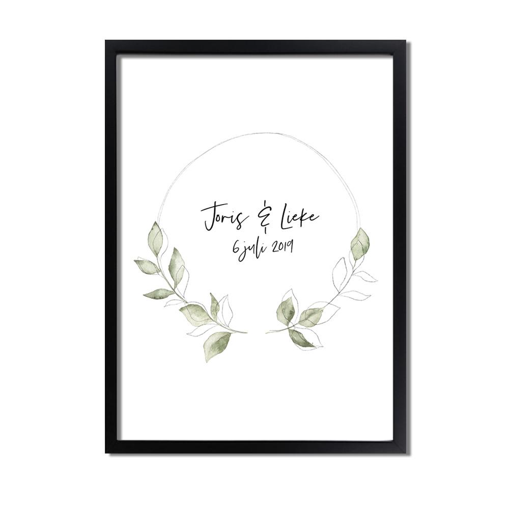 huwelijksposter-huwelijkscadeau-trouwdag