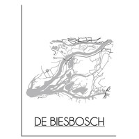 De Biesbosch Plattegrond poster