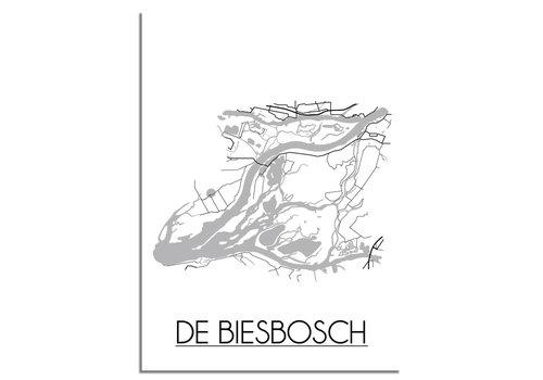 DesignClaud De Biesbosch Plattegrond poster