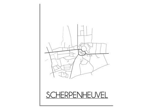 DesignClaud Scherpenheuvel Plattegrond poster