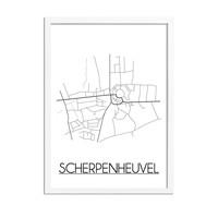 Scherpenheuvel Plattegrond poster