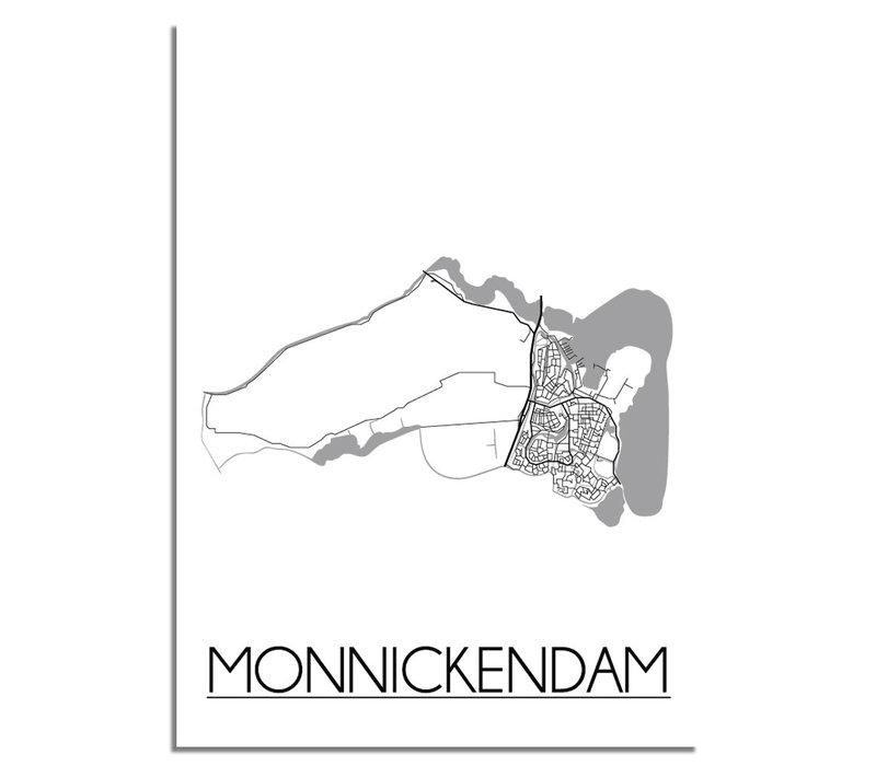 Monnickendam Plattegrond poster