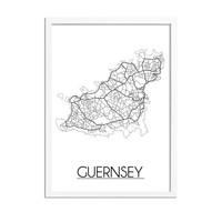 Guersney Plattegrond poster