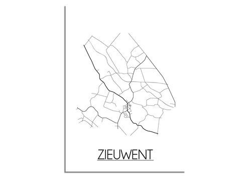 DesignClaud Zieuwent Plattegrond poster