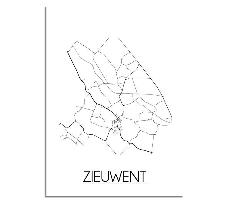 Zieuwent Plattegrond poster