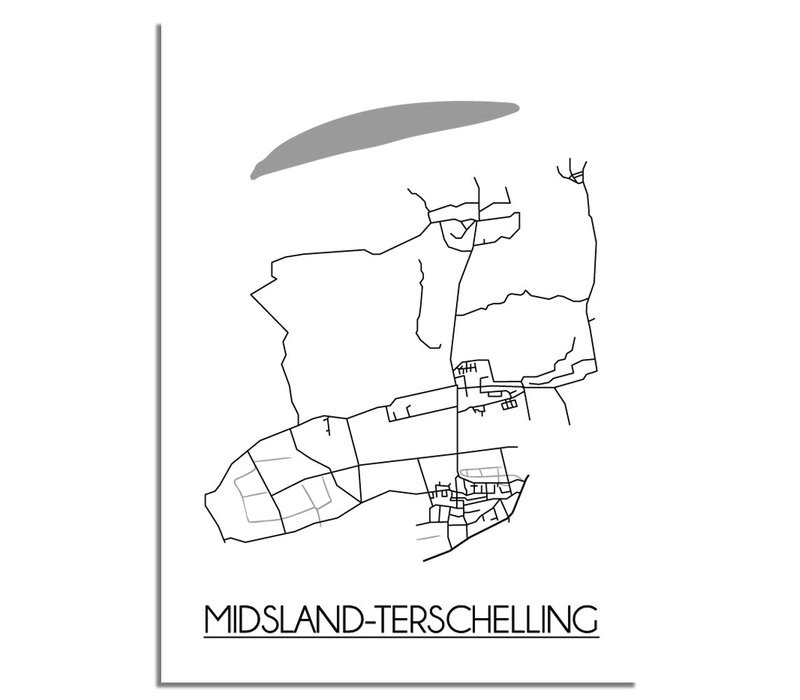 Midsland-Terschelling Plattegrond poster