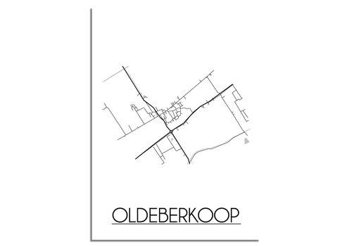 DesignClaud Oldeberkoop Plattegrond poster