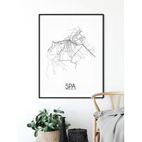 Spa België Plattegrond poster