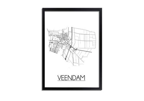 DesignClaud Veendam Plattegrond poster