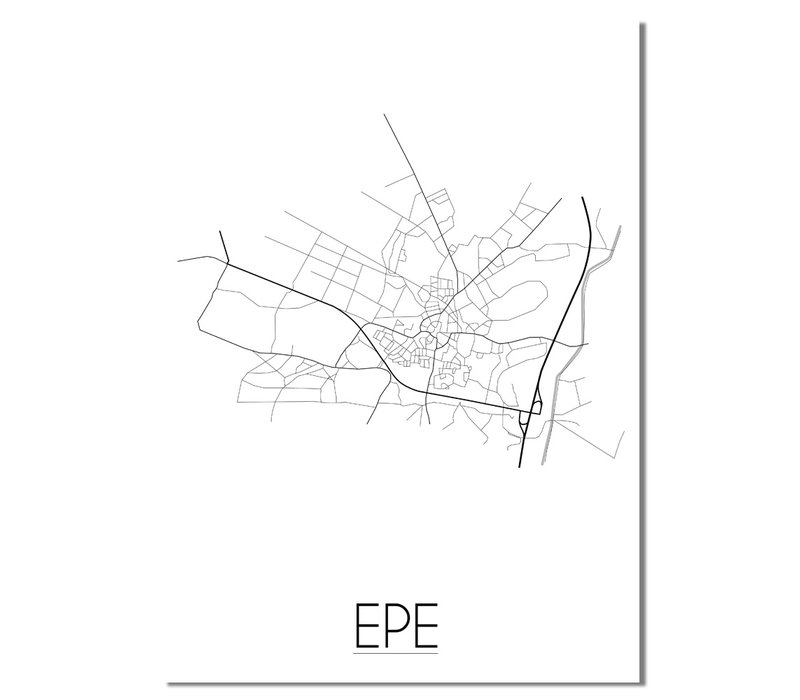 Epe Plattegrond poster