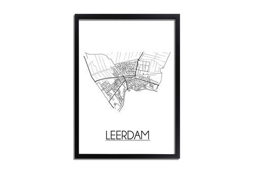 DesignClaud Leerdam Plattegrond poster
