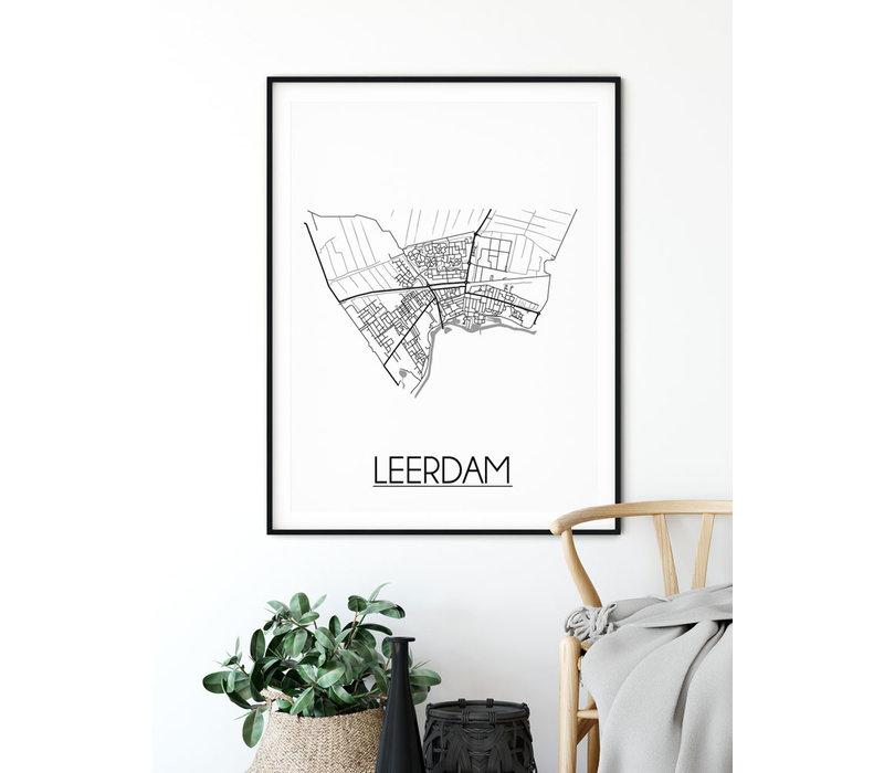 Leerdam Plattegrond poster