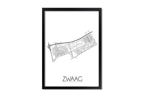 DesignClaud Zwaag Plattegrond poster
