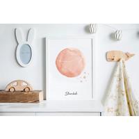 Sterrenbeeld poster Steenbok - Roze