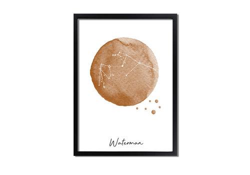 DesignClaud Sterrenbeeld poster Waterman – Bruin