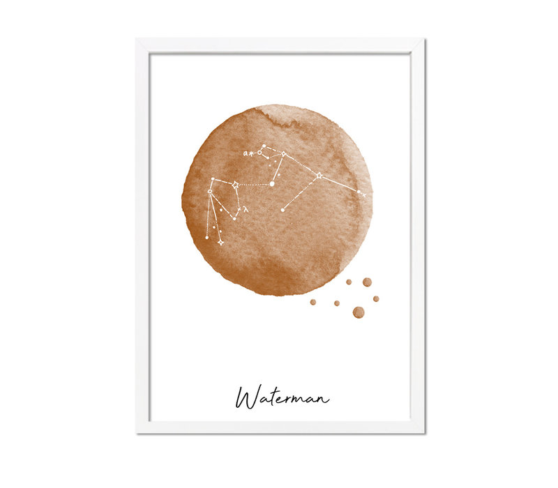 Sterrenbeeld poster Waterman – Bruin