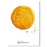 Sterrenbeeld poster Waterman – Geel
