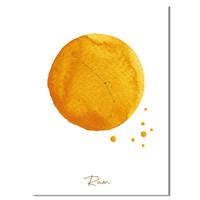 FOLIEDRUK Sterrenbeeld poster Ram – Geel