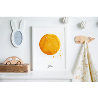 Sterrenbeeld poster Stier – Geel