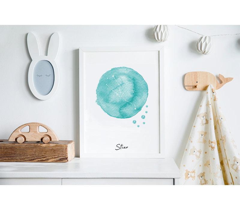 Sterrenbeeld poster Stier – Blauw