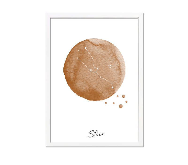 Sterrenbeeld poster Stier – Bruin