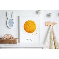 Sterrenbeeld poster Tweelingen – Geel