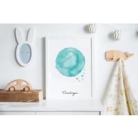 Sterrenbeeld poster Tweelingen – Blauw