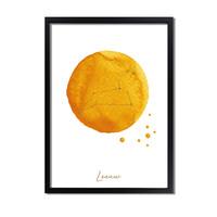FOLIEDRUK Sterrenbeeld poster Leeuw – Geel