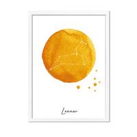 Sterrenbeeld poster Leeuw – Geel