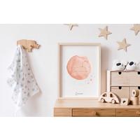 FOLIEDRUK Sterrenbeeld poster Leeuw – Roze