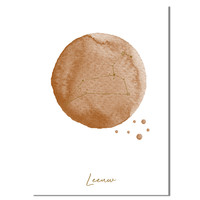 FOLIEDRUK Sterrenbeeld poster Leeuw – Bruin