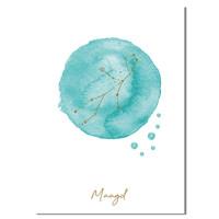 FOLIEDRUK Sterrenbeeld poster Maagd – Blauw
