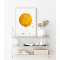 Sterrenbeeld poster Weegschaal – Geel