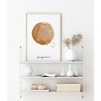 Sterrenbeeld poster Weegschaal – Bruin