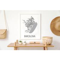 Barcelona Plattegrond poster