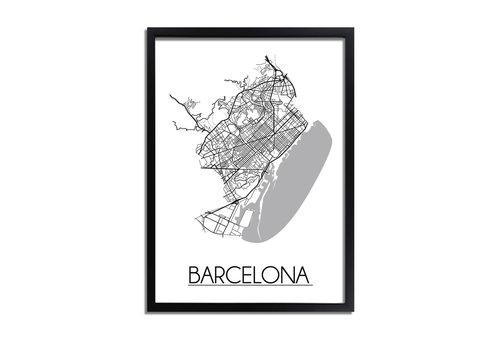 DesignClaud Barcelona Plattegrond poster