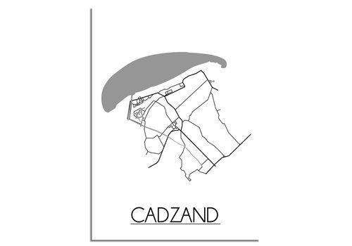 DesignClaud Cadzand Plattegrond poster