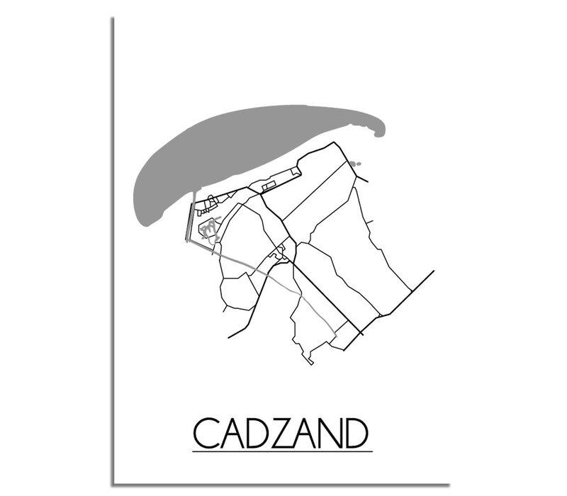 Cadzand Plattegrond poster