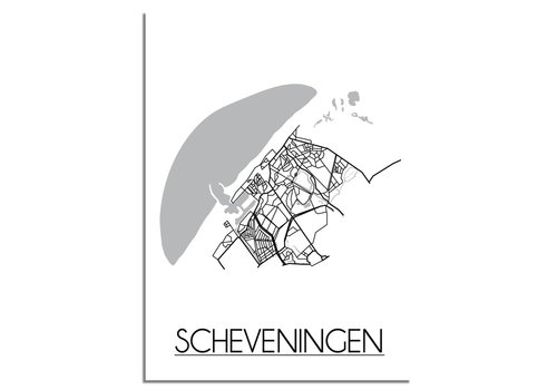DesignClaud Scheveningen Plattegrond poster