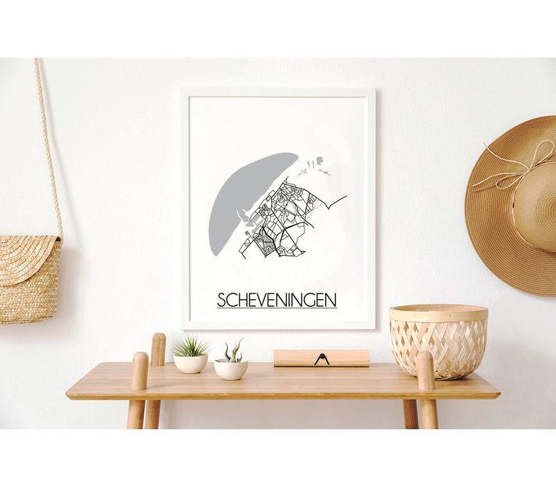 Scheveningen Plattegrond poster