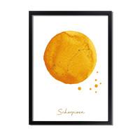 FOLIEDRUK Sterrenbeeld poster Schorpioen – Geel