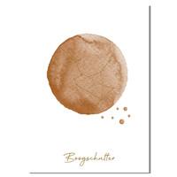 FOLIEDRUK Sterrenbeeld poster Boogschutter – Bruin