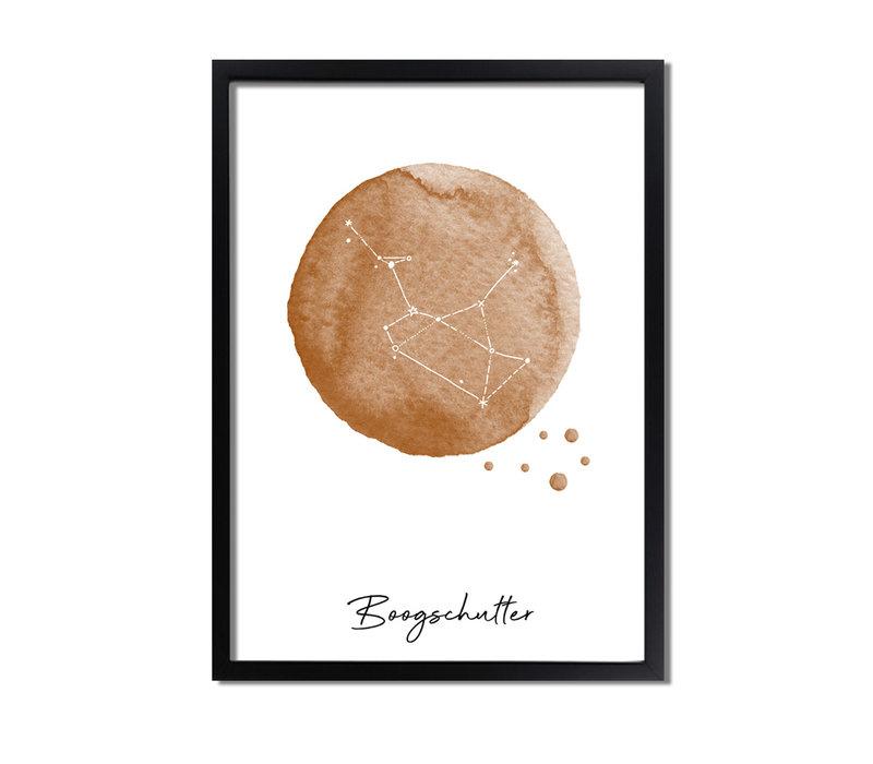 Sterrenbeeld poster Boogschutter – Bruin