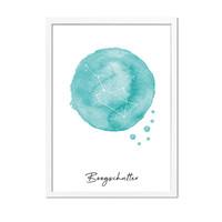 Sterrenbeeld poster Boogschutter – Blauw