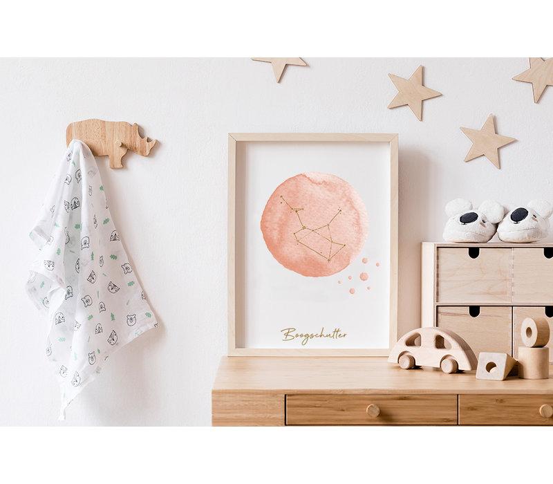 FOLIEDRUK Sterrenbeeld poster Boogschutter – Roze