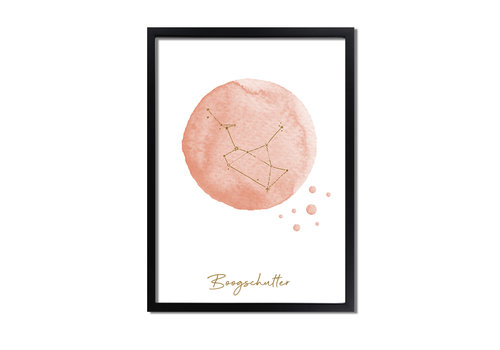 DesignClaud FOLIEDRUK Sterrenbeeld poster Boogschutter – Roze