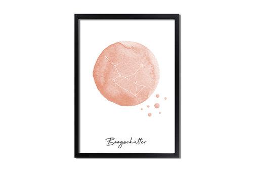 DesignClaud Sterrenbeeld poster Boogschutter – Roze