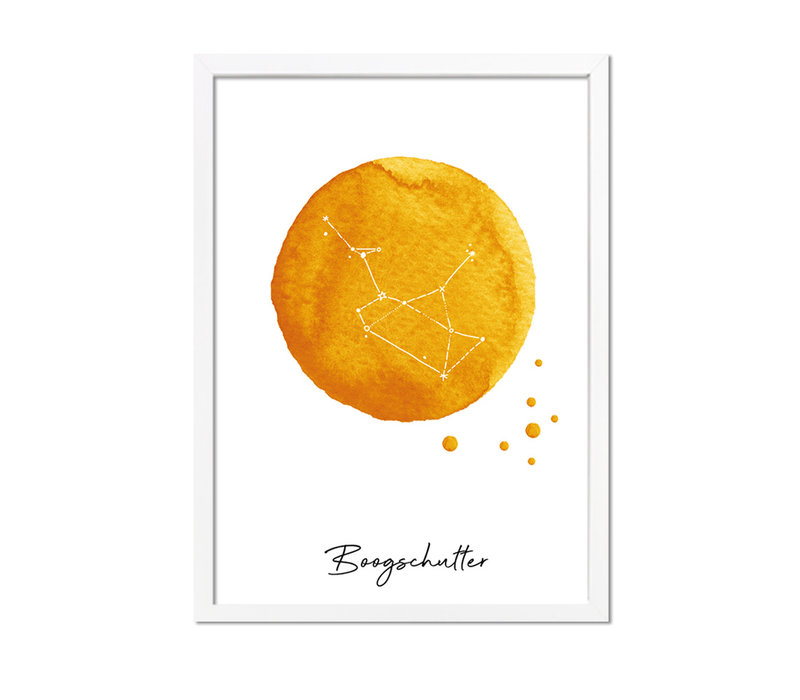 Sterrenbeeld poster Boogschutter – Geel