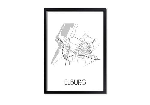 DesignClaud Elburg Plattegrond poster